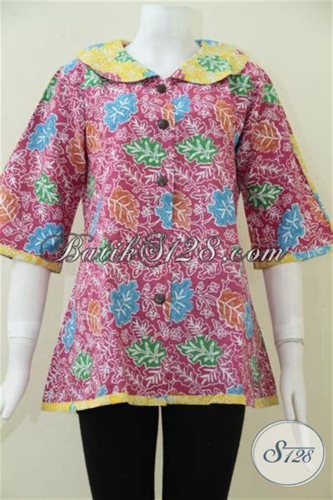 Blus Anak Batik Atasan Anak Cewek Pakaian Anak Batik B11017006ijo busana batik blus warna merah jambu cewek banget pakaian