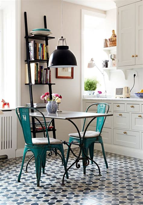 Cafe Style Tables For Kitchen A Charming Bistro Style Kitchen Vintage Kitchen Small Kitchens And Tables