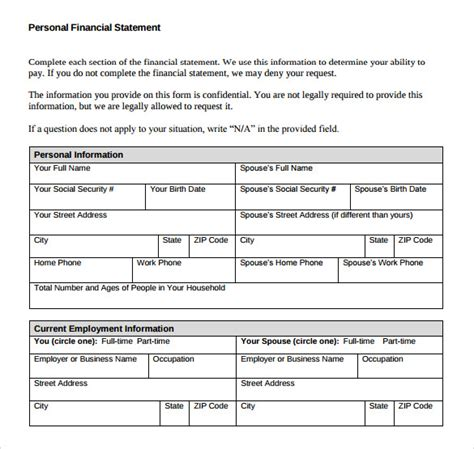 sle personal financial statement pdf drugerreport732