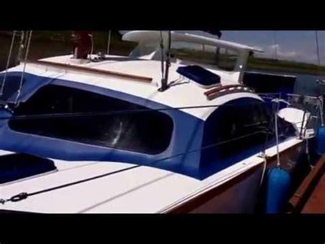pt boat power 32 iroquois catamaran sail power boat pt 1 youtube