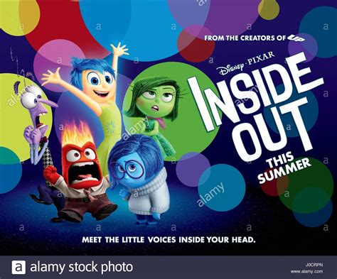 film inside out adalah fear anger joy sadness disgust poster inside out 2015