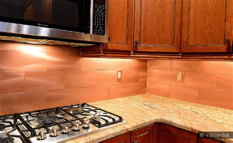 copper kitchen backsplash tiles copper color large subway backsplash backsplash com