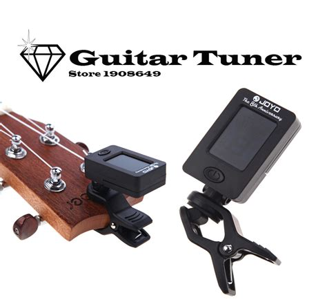Istimewa Clip On Guitar Tuner Joyo new joyo guitar bass tuner afinador mini lcd clip on 360 degree rotatable clip tuner for