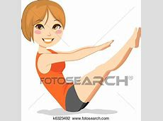 Clipart of Pilates Exercise k6323492 - Search Clip Art ... Exercise Clip Art Free To Copy