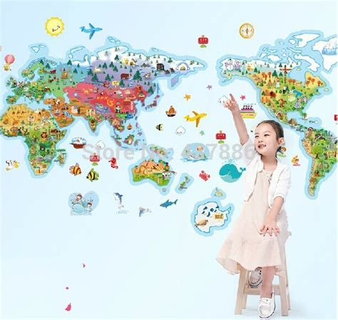 aliexpress com koop rijst cartoon wereld wereldkaart