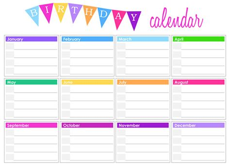 birthday calendars templates free 25 best editable calendar templates 2015 designs free