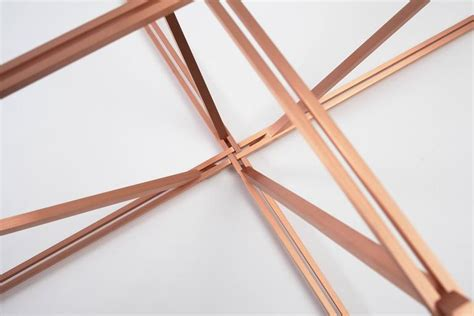 Tensegrity L by Tensegrity Oval Coffee Table In Customizable Glass Top And