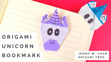 How To Make An Origami Corner Bookmark - origami unicorn bookmark ted s