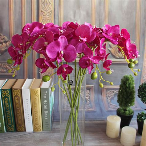 artificial flowers home decor artificial plants simulation decorative butterfly orchid