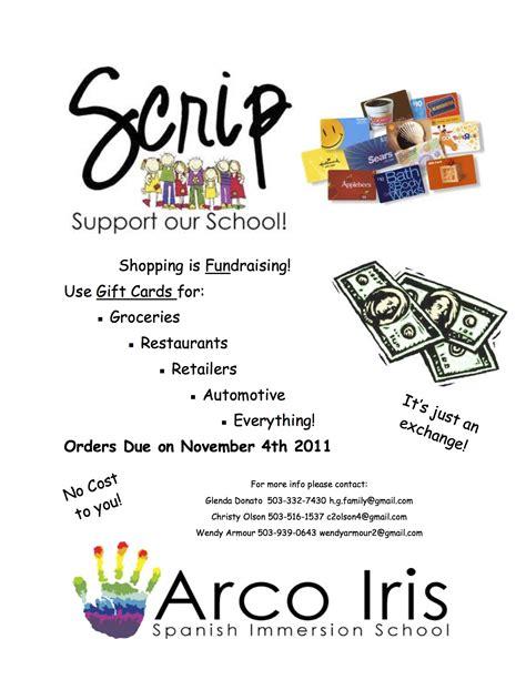 gift card fundraiser scrip beaverton s charter school
