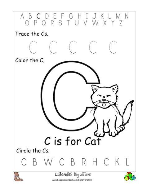 free printable preschool worksheets letter c 10 best images of circle the letter worksheets for