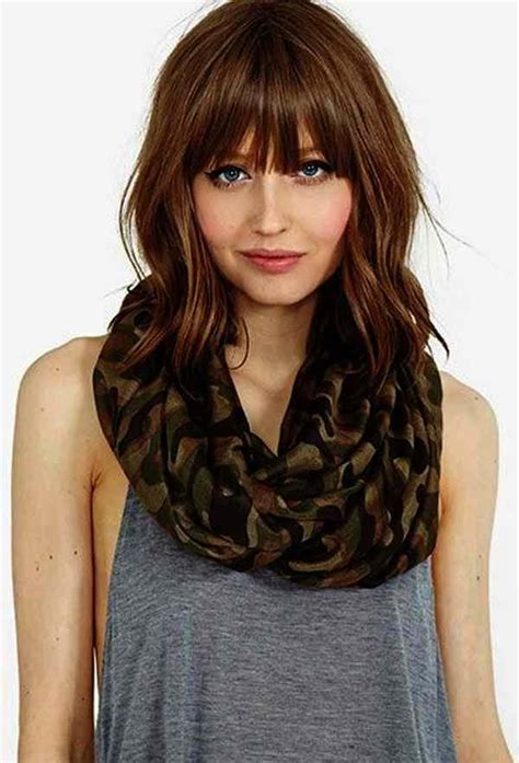 medium hairstyles for faces with bangs 2018 hairstyles with bangs for faces