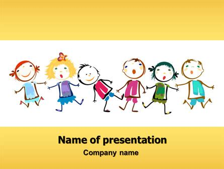 ppt templates for preschool funny kids brochure template design and layout download