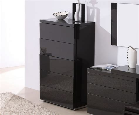 Grey Chest Of Drawers Bedroom grey gloss functional chest of drawers for