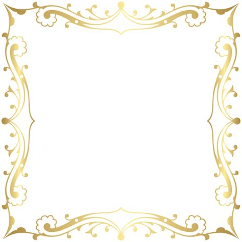 decorative border frame transparent clip art image