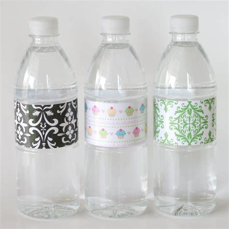 water bottle label design your own template to design my own water bottle label just b cause