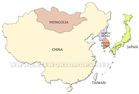 east countries map east asia maps