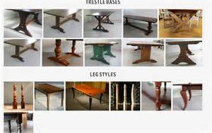 Dining Table Styles by Most Popular Dining Table Leg Styles Ecustomfinishes