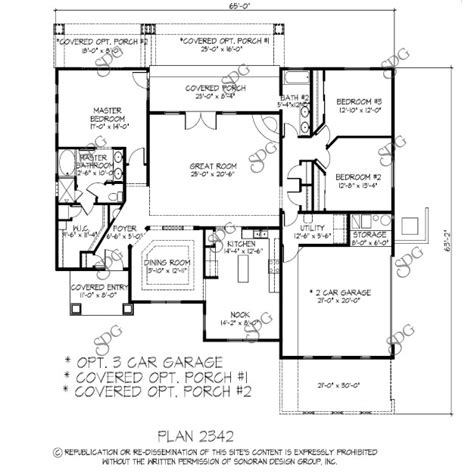 tucson arizona 2000 2499 sq ft custom home plans
