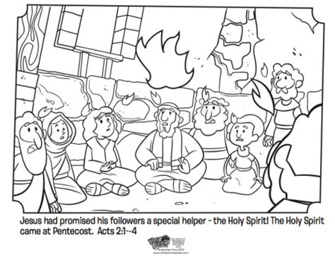 coloring page pentecost what is pentecost whats in the bible