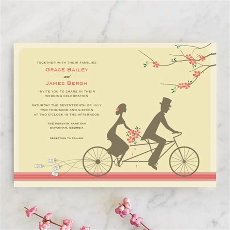 bicycle for two wedding invitations 4 unique bicycle wedding invitations wedding guide