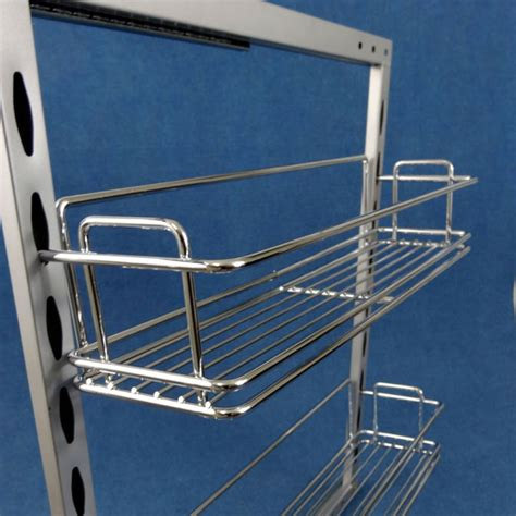 2 x slide out pantry 110mm plus 4 baskets caravan