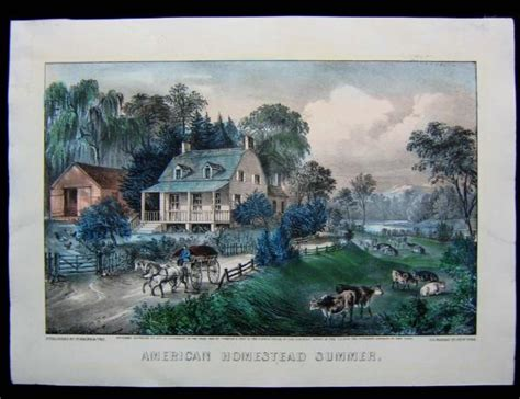 currier and ives best 50 1868 original currier ives american homestead summer