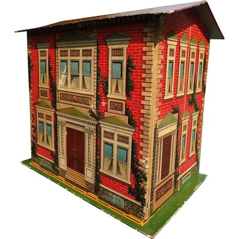 folding doll house mcloughlin brothers folding lithographed doll house from rubylane sold on ruby lane