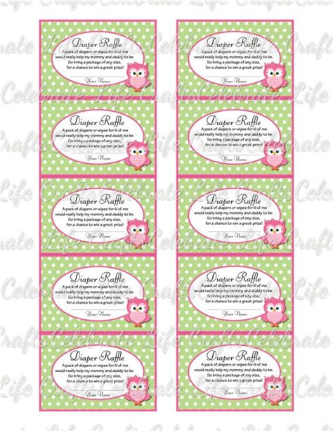 printable raffle tickets for baby shower printable diaper raffle tickets for baby shower baby