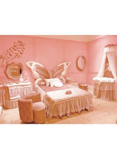 butterfly headboard fairy tale style solid wood kids bed butterfly shape