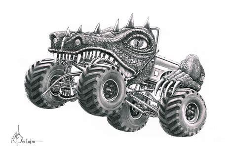 Monster Truck Drawing By Murphy Elliott
