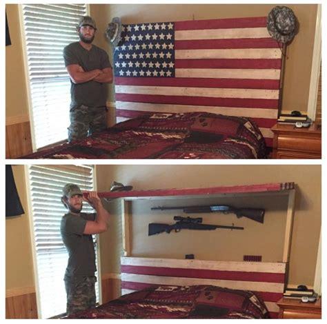 Headboard Gun Safe Headboard Gun Safe Secret Sliding Headboard Compartment Stashvault Guns Gun Bed Secret