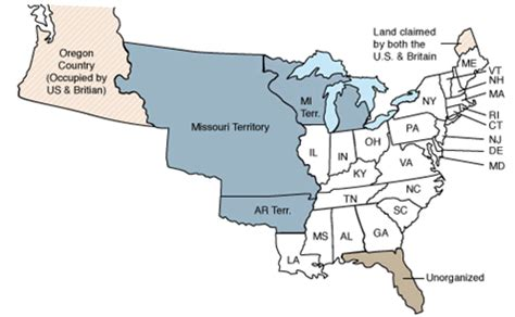 map of united states 1820 us census 1820 findmypast