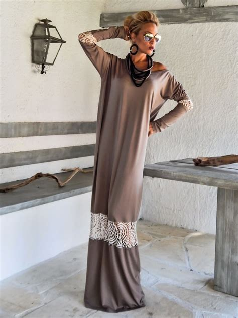 24325 Brown Back Lace Summer Dress 1000 ideas about brown maxi dresses on blue