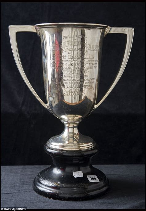 the loving cup a titanic s surviving cracker is sold for 22 968 at henry aldridge son auctioneers daily mail