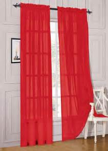 4 types of red sheer curtains