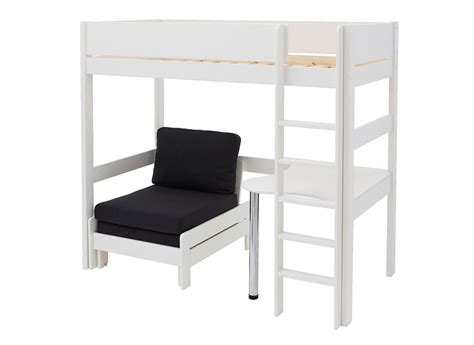 high rise bed with desk tinsley highsleeper with desk black and white dreams