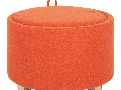 burnt orange ottoman burnt orange storage ottoman home design ideas