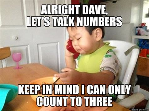 Baby On Phone Meme - let s talk numbers the meta picture