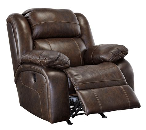 Leather Recliner branton antique rocker recliner u7190125 leather