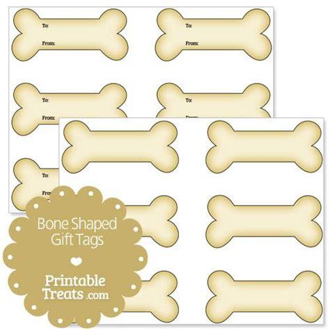 printable dog labels printable bone shaped gift tags printable treats pet
