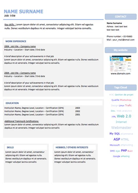 open source resume builder editable resume templates and printable pdf free for word
