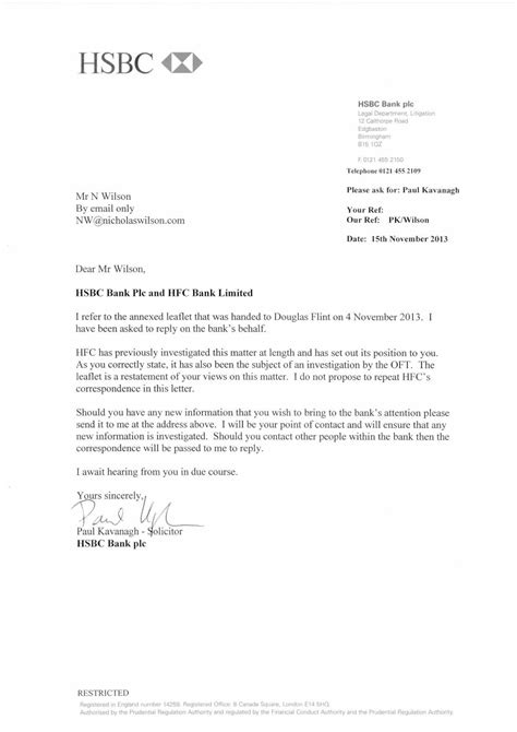 closing bank account letter hsbc correspondence with hsbc mr ethical