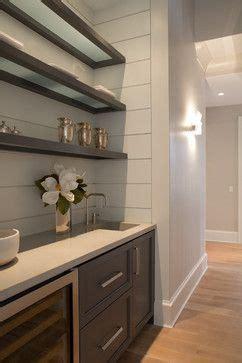 modern butlers pantry  small sink wine fridge add