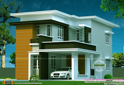 new flat roof house home design simple