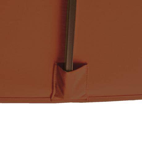 Island umbrella caspian 8 ft x 10 ft rectangular terra cotta olefin market umbrella walmart ca
