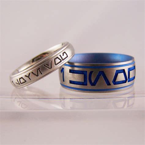 i you i platinum titanium wars rings