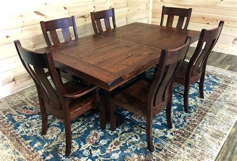 Solid Wood Kitchen Table Used Oak And Chairs For Sale Sets