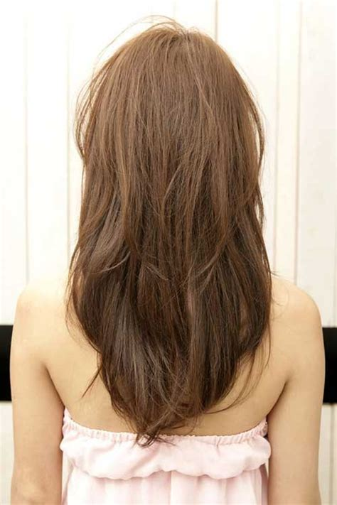 is v shaped layered look good for curly hair 10 long layered hair back view hairstyles haircuts