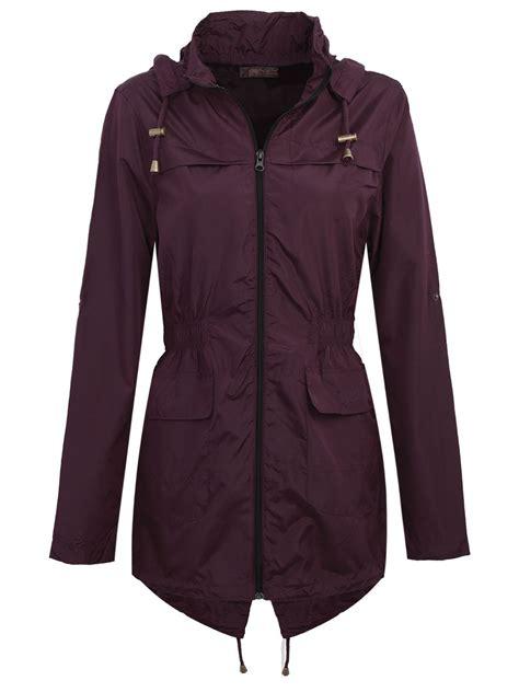 Hooded Fishtail Jacket new womens plain parka mac hooded waterproof